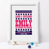 Personalised Name Meaning RETRO Print